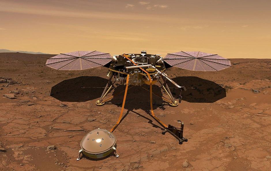 Zvočni zapis vetra z Marsa, posnet s sondo InSight (foto: profimedia)