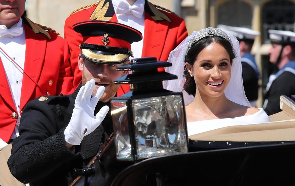 Meghan Markle in princ Harry javnosti pokazala še nikoli videno poročno fotografijo (foto: Profimedia)