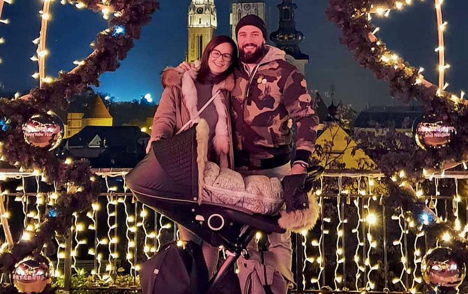 Filip Flisar z družino na obisku prazničnega Zagreba (foto: osebni arhiv)