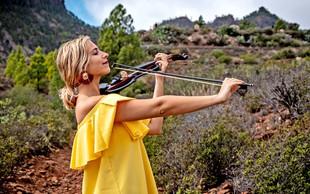 Maša Golob z violino na Kanarske otoke