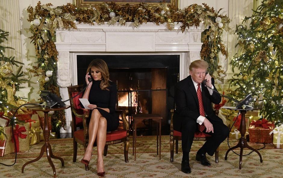 Donald Trump na božični večer vprašal otroka, če res verjame v božička (foto: profimedia)