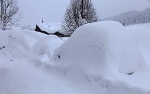 V Avstriji snežni rekordi, kakršne beležijo le vsakih 10 do 100 let