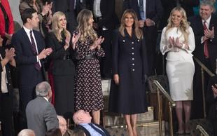 Melania Trump blestela v temni obleki, Tiffany Trump pa v  beli