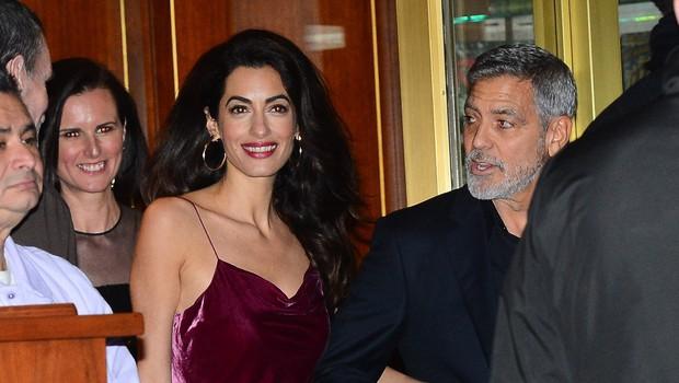 Amal in George Clooney prvič po govoricah o ločitvi skupaj v javnosti (foto: Profimedia)