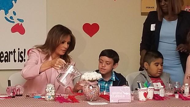 Melania Trump obiskala otroško bolnišnico v Miamiju (foto: profimedia)