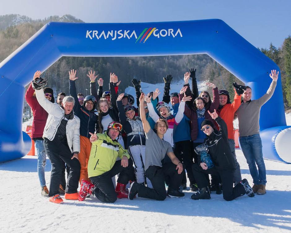 Druženje glasbenikov v podporo največjemu športnemu spektaklu v Kranjski Gori (foto: Žiga Maček)