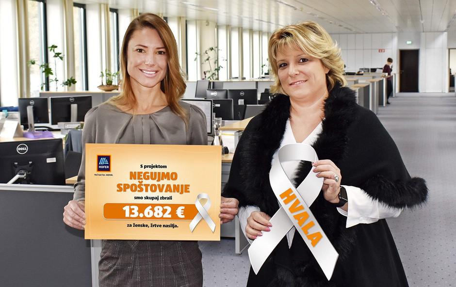 Ob 8. marcu donacija ženskam iz varnih hiš in materinskih domov (foto: Hofer Press)