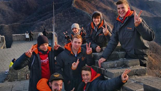 Kitajski zid jih je navdušil s svojo mogočnostjo. (foto: OSEBNI ARHIV)