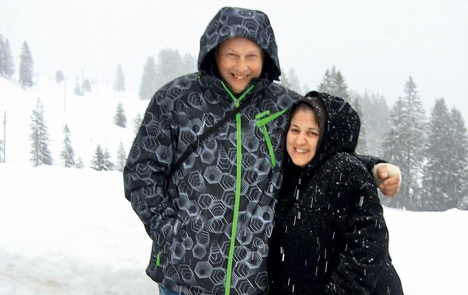 Ponosna starša, Erika in Damjan Smolak. (foto: Osebni Arhiv)