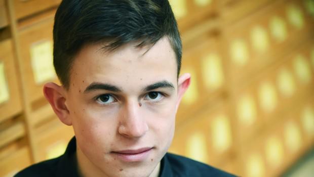Finalist Mladi upi 2018: Fizik in informatik Tevž Lotrič (foto: Mateja Jordovič Potočnik)