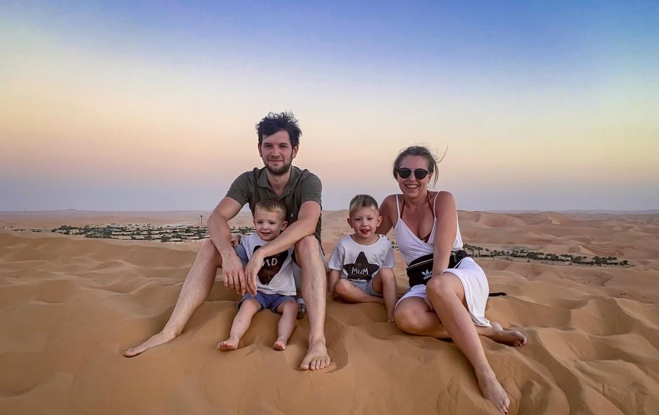 Hajdi je  z družinico obiskala puščavo  v Dubaju. (foto: Osebni Arhiv)