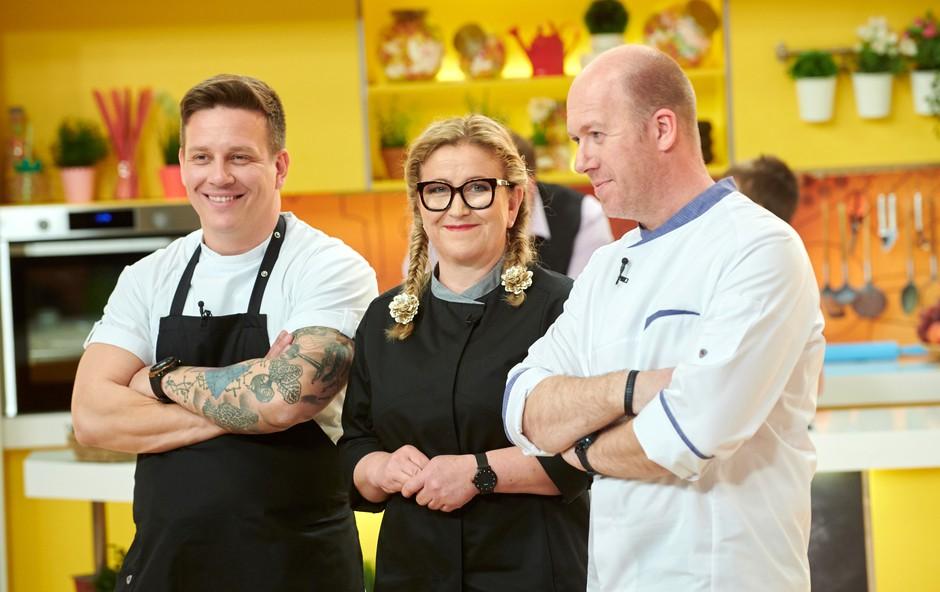 Mali šef Slovenije z velikimi junaki in malimi kuhalnicami (foto: Pop Tv)