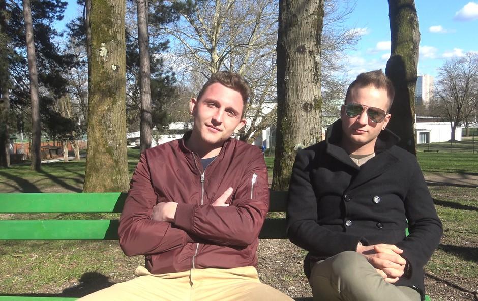 Tomaž Bizjak (Ljubezen po domače) in Urban Vidmar (Nova zvezda Slovenije) skupaj osvajata Slovenijo! (foto: Aleš Rod)