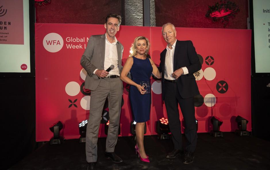 Slovenska oglaševalska zbornica je prejemnica mednarodne nagrade WFA President's Award (foto: Golden Drum Festival Press)