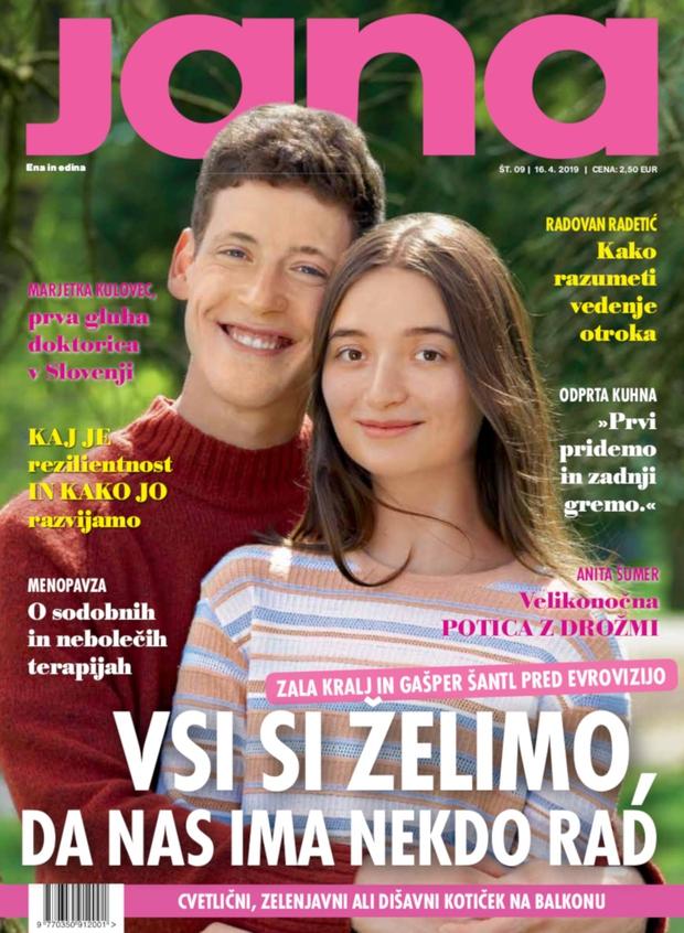 """Zala Kralj in Gašper Šantl: """"Vsi si želimo, da nas ima nekdo rad."""" (foto: Jana)"""