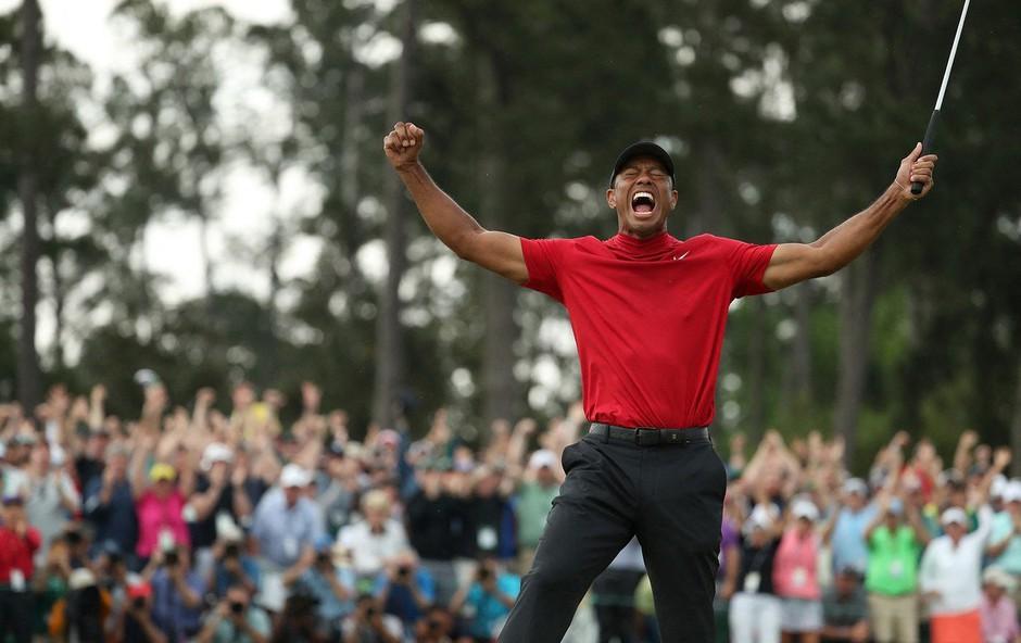 Tiger Woods z zmago navdušil vse - od Trumpa do Serene Williams (foto: Profimeda)