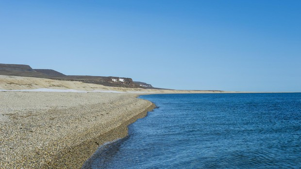Long deserted beach, Torellneset, Arctic, Svalbard, Image: 427603883, License: Royalty-free, Restrictions:, Model Release: no, Credit line: Profimedia, imageBROKER (foto: Profimedia Profimedia, Imagebroker)