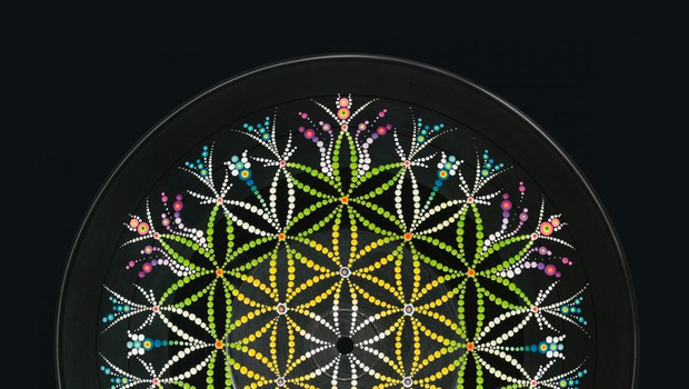 Flower of life hand painted on a vinyl record, Image: 349306219, License: Royalty-free, Restrictions:, Model Release: no, Credit line: Profimedia, Panthermedia (foto: Profimedia)