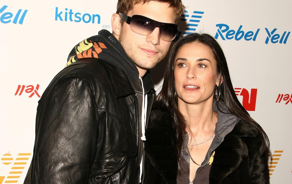 Rebel Yell Spring Launch Party, Kitson, Beverly Hills, California. Demi Moore and Ashton Kutcher Please Byline@Juan Rico --- Ashton Kutcher, Demi Moore --- - 310-276-9202, Image: 17897061, License: Rights-managed, Restrictions:, Model Release: no, Credit line: Profimedia, Backgrid USA.. (foto: Profimedia Profimedia, Backgrid Usa..)