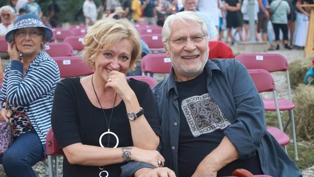Ksenija daje pomembno plat humorju, česar ji v zakonu z igralcem Borisom Cavazzo zagotovo ne manjka. (foto: Goran Antley)
