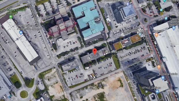 Izobraževalni zavod Cene Štupar se seli na Šmartinsko (foto: Zemljevid/printscreen)