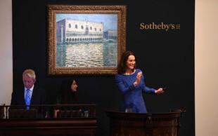 Slika iz Monetove serije senenih kopic prodana za rekordnih 111 milijonov dolarjev