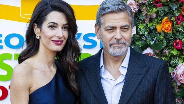 George in njegova lepa soproga Amal, s katero ima dva otroka. (foto: Profimedia Profimedia, Mega Agency)