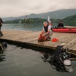 S potapljači očistili Blejsko jezero za več kot 6 m3 odpadkov (foto: Press)