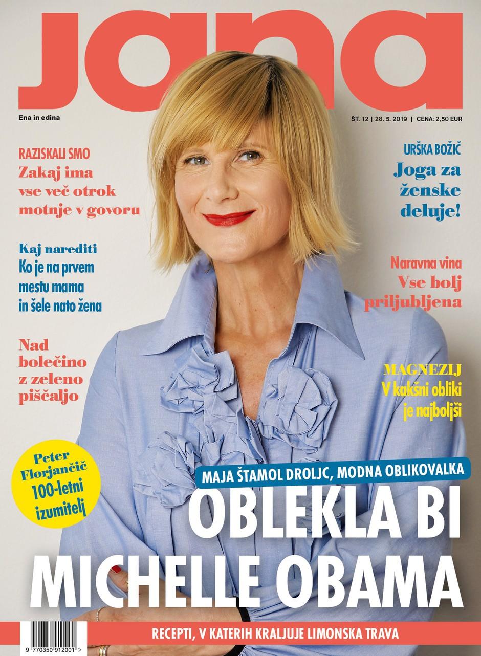 "Maja Štamol Droljc: ""Oblekla bi Michelle Obama."" (foto: Jana)"