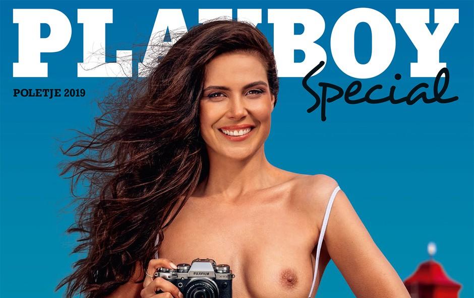 Ula Furlan Molk v posebni izdaji Playboya s 40 najlepšimi dekleti (foto: Aleš Bravničar)