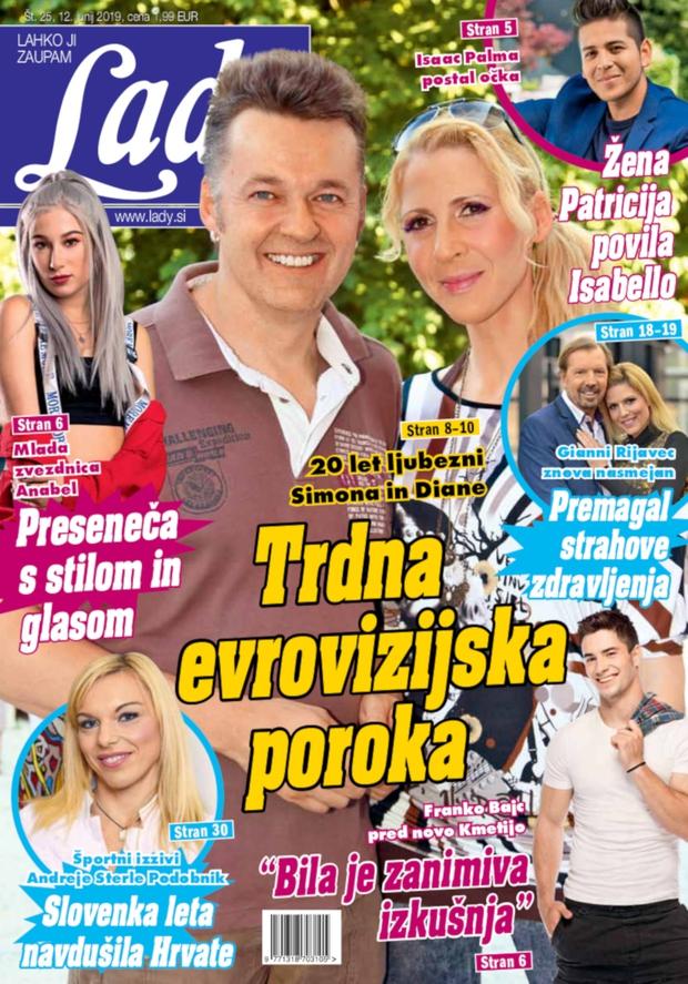 20 let ljubezni Simona in Diane: Trdna evrovizijska poroka (foto: Lady)