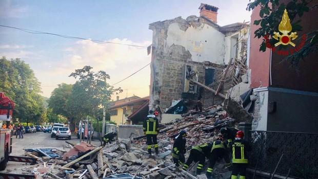 Gorica: Eksplozija v stanovanjski hiši terjala tri življenja, med njimi Slovenec (foto: Vigili del Fuoco)