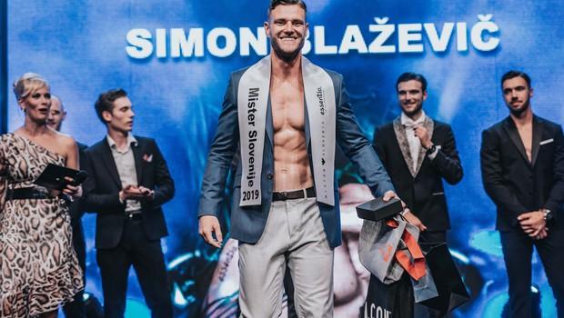 Novi mister Slovenije 2019 je postal Simon Blažević. (foto: Vid Rotar)