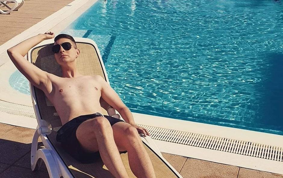 Damjan Murko: Če ne v morju, se ohladimo kar v banji (foto: Osebni album)