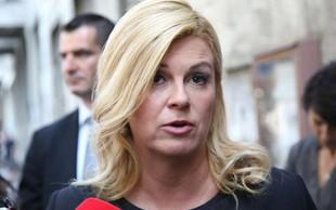 """Grabar-Kitarovićeva o nasilnem zavračanju migrantov: """"Le ko je nujno!"""""""