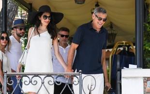 Amal in George Clooney na romantičnem izletu v Benetkah