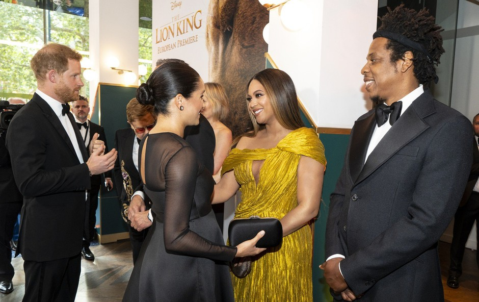 Na dan prišlo, kaj je Beyonce šepnila v uho Meghan Markle (foto: Profimedia)
