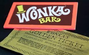 Tablica čokolade Wonka in zlata vstopnica prodani za slabih 16.000 funtov