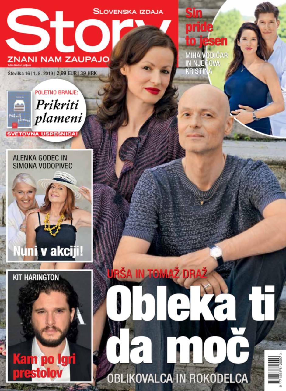 """Urša in Tomaž Draž: """"Obleka ti da moč."""" (foto: story)"""