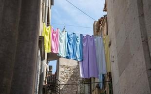 V nekaterih dalmatinskih krajih z globami nad tiste, ki perilo sušijo na zunanjih straneh stavb