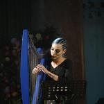 Nastopila je tudi harfistka in pevka Sara Briški Cirman - Raiven. (foto: Foto: Mediaspeed)