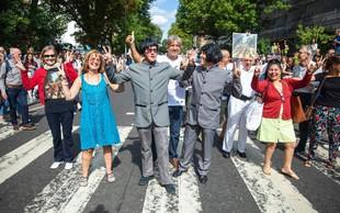 Pred pol stoletja nastala znamenita fotografija Beatlesov na Abbey Road