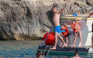 Robbie Williams uživa na počitnicah na Formenteri