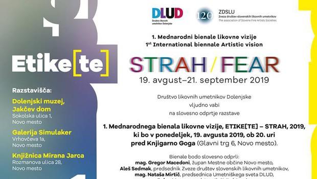 1. Mednarodni bienale likovne vizije  STRAH /FEAR (foto: Promocijski material)
