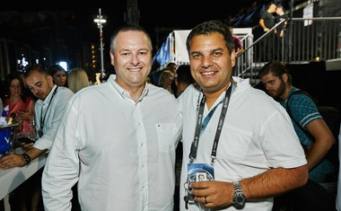 Kristjan Stančić, direktor Hrvaške turistične organizacije, in Joe Bašić, alfa in omega festivala Ultra Europe.