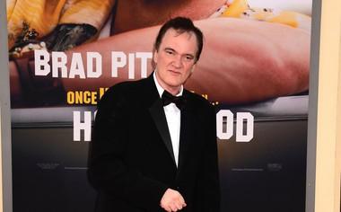 Quentin Tarantino, ponosen na svojo filmsko stvaritev.