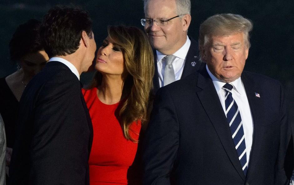 Slika, o kateri se govori: Melania Trump je Justina Trudeauja pozdravila nadvse prisrčno (foto: Profimedia)
