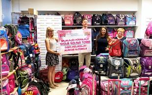 Zvezi prijateljev mladine Slovenije podaril 200 šolskih torb, zbranih v dobrodelni akciji
