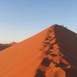 Veličastne peščene sipine Namiba, ki jih osvetli jutranje sonce. (foto: Foto: Osebni Arhiv)