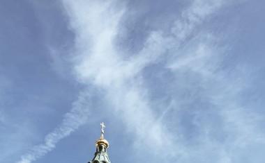 Klasična ortodoksna ruska katedrala Uspenski